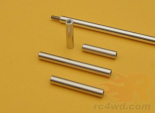 Mm quot aluminum long shiny solid links